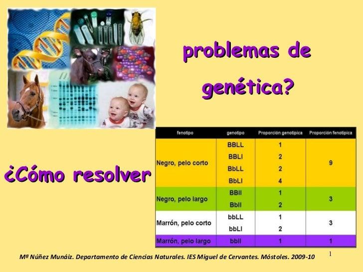 ¿Cómo resolver Mª Núñez Munáiz. Departamento de Ciencias Naturales. IES Miguel de Cervantes. Móstoles. 2009-10 problemas d...