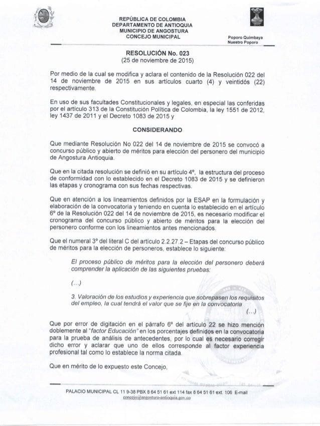 """¿i a S """"Él  laa:  .  REPÚBLICA DE COLOMBIA DEPARTAMENTO DE ANTIOQUIA MUNICIPIO DE ANGOSTURA  CONCEJO MUNICIPAL Poporo Quim..."""