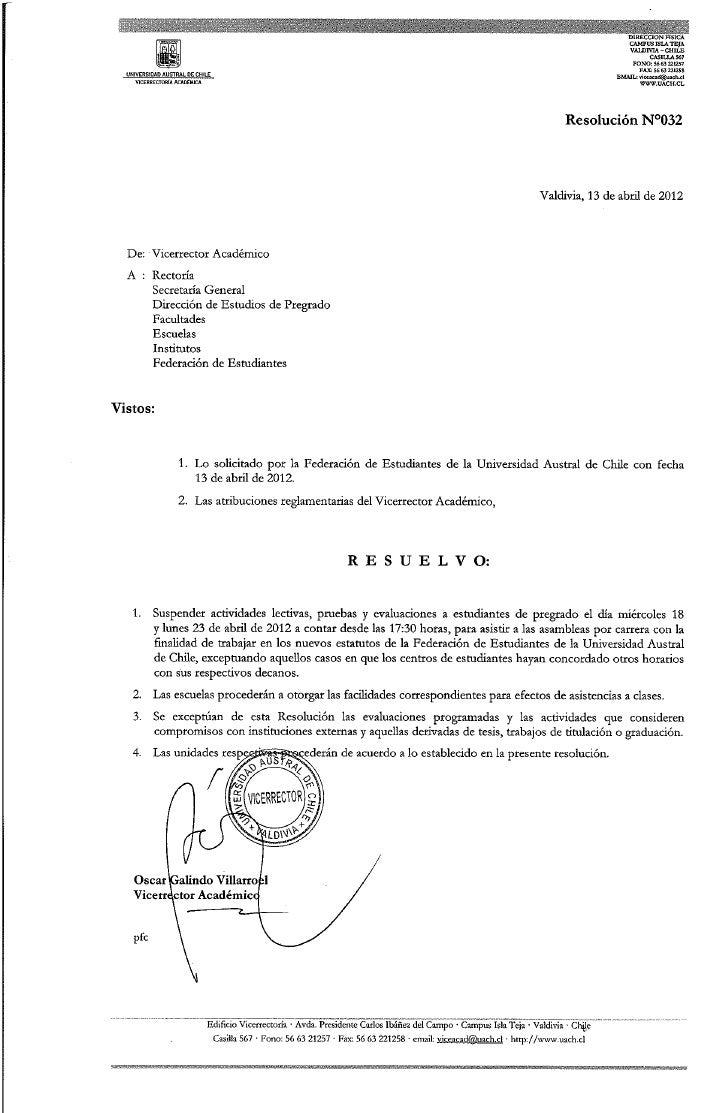 Resolución n°032   suspensión de actividades académicas (18 y 23 abril)