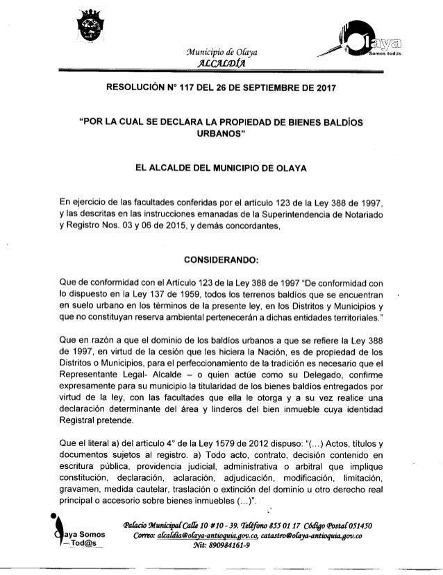 Resolucion 117 de 26 septiembre 2017