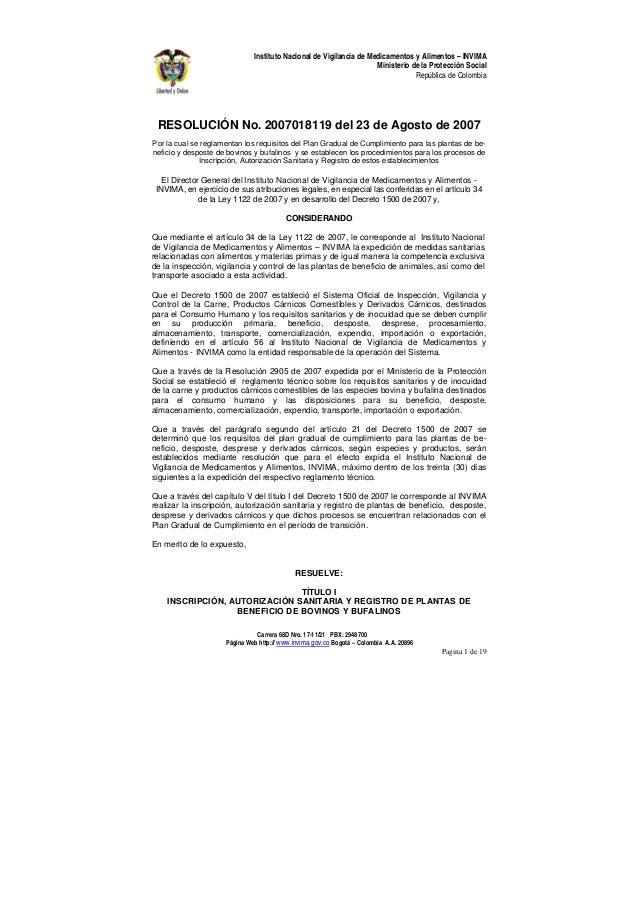 Carrera 68D Nro. 17-11/21 PBX: 2948700 Página Web http:// www.invima.gov.co Bogotá – Colombia A.A. 20896 Pagina 1 de 19 In...