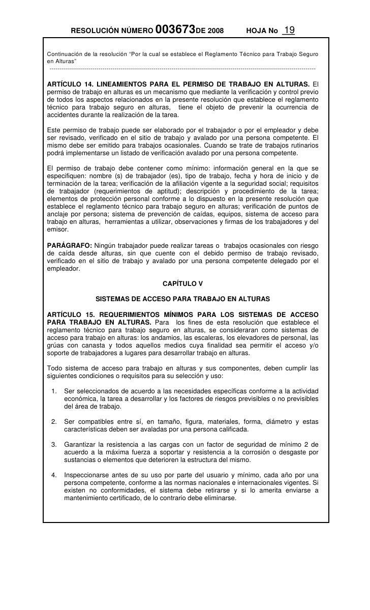 Resolucion 3673 de 2008