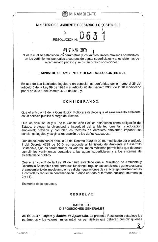 Resolucion 631 de_2015_vertimientos_minambiente