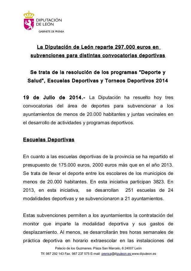 El presidente de la Diputación de León, Marcos Martínez, reparte subv…