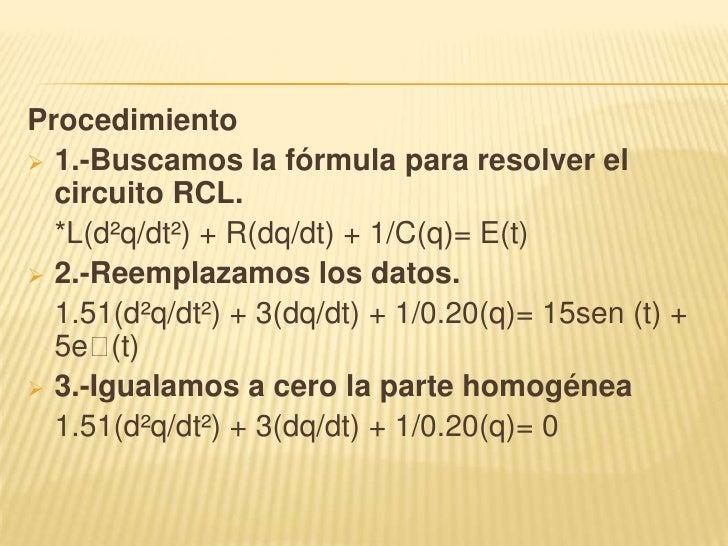Circuito Rlc Ecuaciones Diferenciales : Resolucion de un circuito rlc en matlab