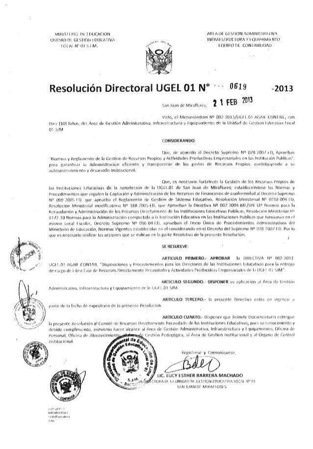 Resolucion directoral 0619