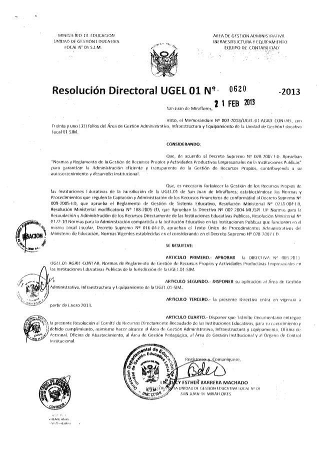 RD 0620 RECURSOS PROPIOS, ACTAS LIBROS