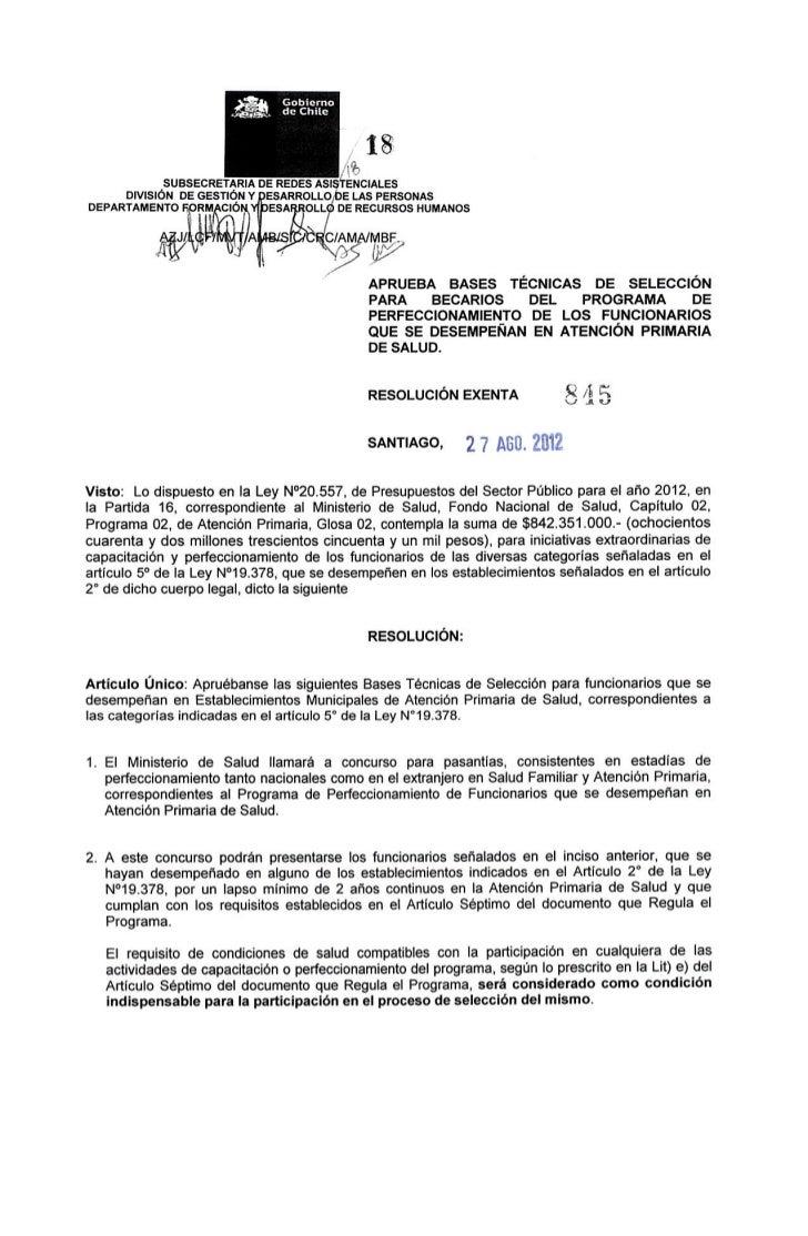 Resolucion exenta n°845 bases técnicas 2012