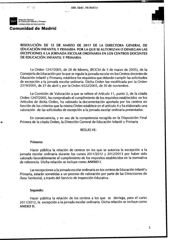 .                 I    J            Dirección Genera!            de Educaci~n Infantil y Prim.aria            CONSEJERIA D...