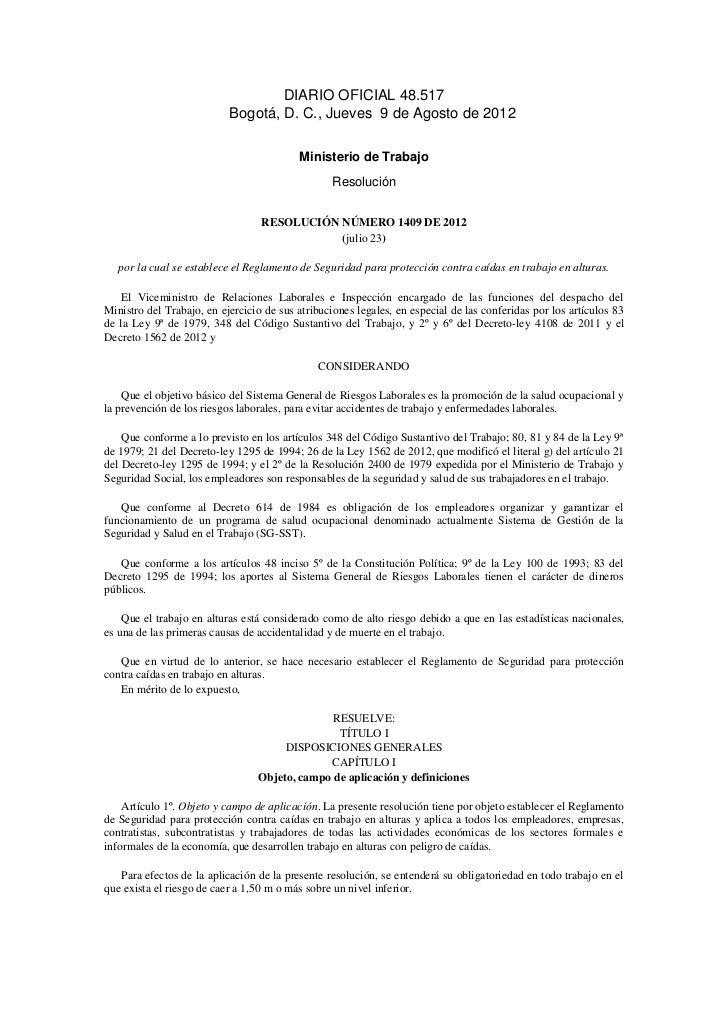 DIARIO OFICIAL 48.517                           Bogotá, D. C., Jueves 9 de Agosto de 2012                                 ...