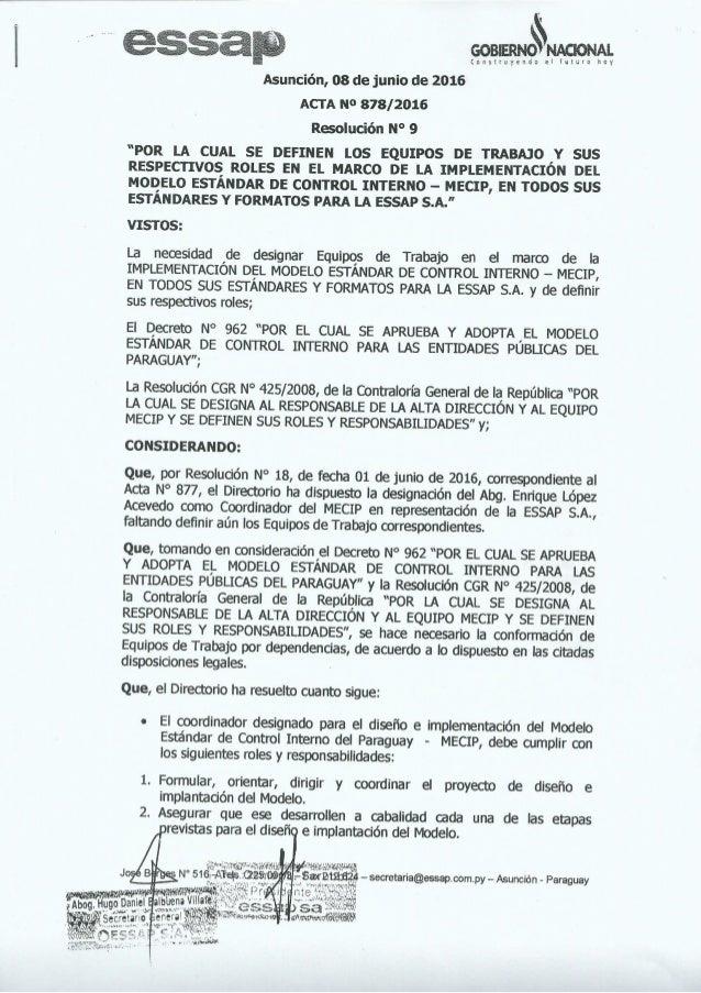 Resolucion nro9 mecip