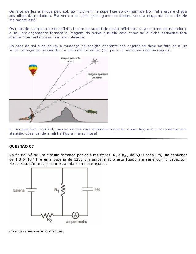 1. DETERMINE a leitura do amperímetro. Solução: Olha a pegadinha! Cuidado galera, o capacitor está carregado e, portanto n...