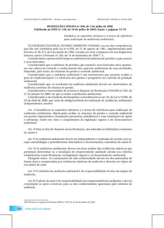 Resolução conama 306/2002