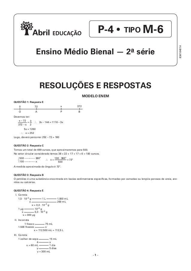 Resolução prova ph   p4 Slide 2