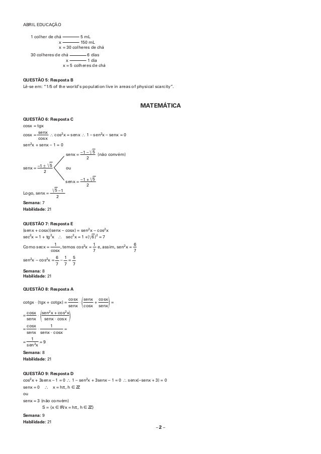 Resolução prova ph   p4 Slide 3