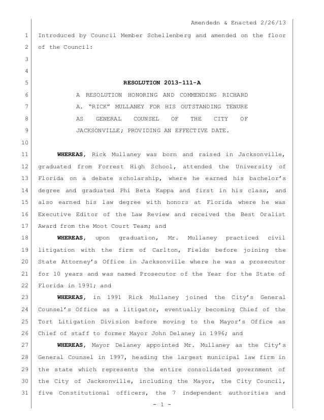 Amendedn & Enacted 2/26/13 - 1 - Introduced by Council Member Schellenberg and amended on the floor1 of the Council:2 3 4 ...