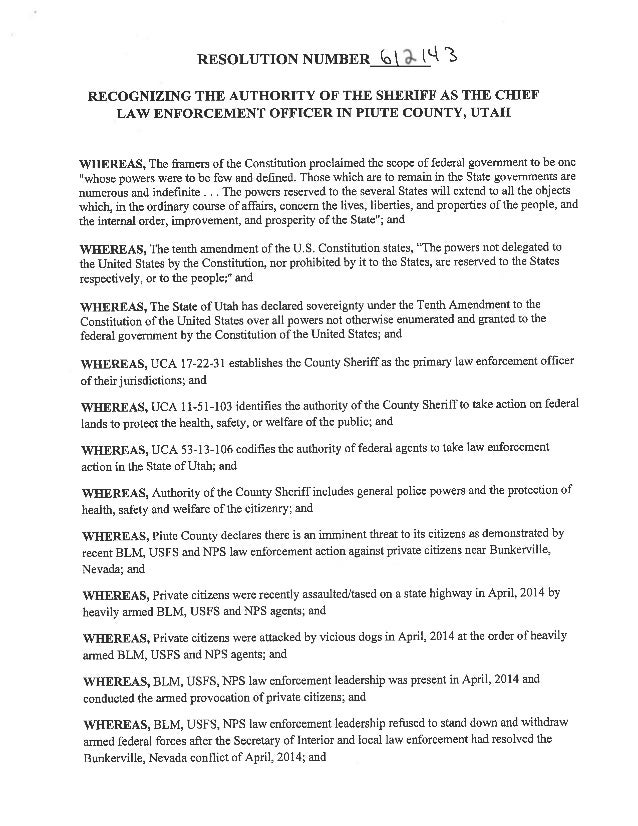 Piute County Resolution612143