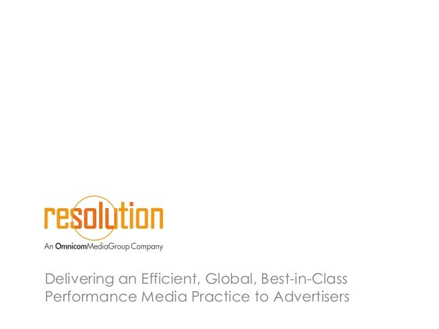 Delivering an Efficient, Global, Best-in-Class Performance Media Practice to Advertisers
