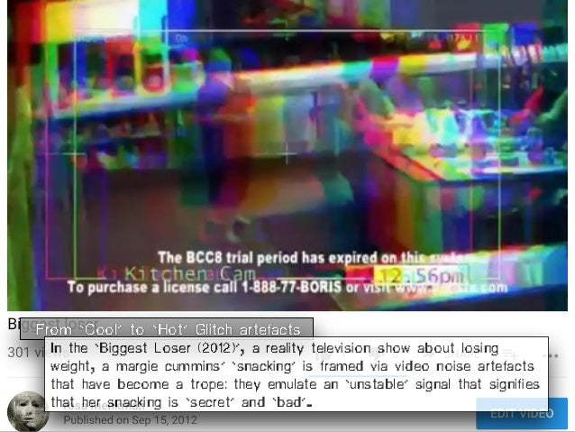 From 'Cool' to 'Hot' Glitch artefacts In the 'Biggest Loser (2012)', a reality television show about losing weight, a marg...