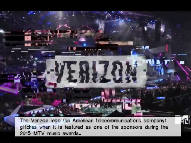 The Verizon logo (an American telecommunications company) glitches when it is featured as one of the sponsors during the 2...