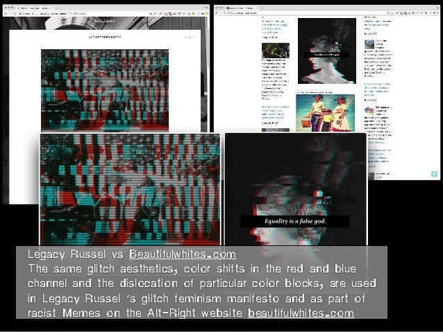 Legacy Russel vs Beautifulwhites.com The same glitch aesthetics, color shifts in the red and blue channel and the dislocat...