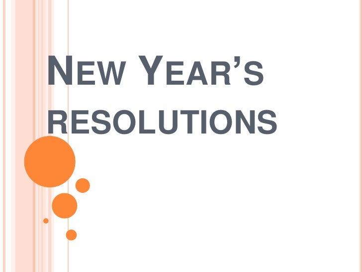 New Year'sresolutions<br />