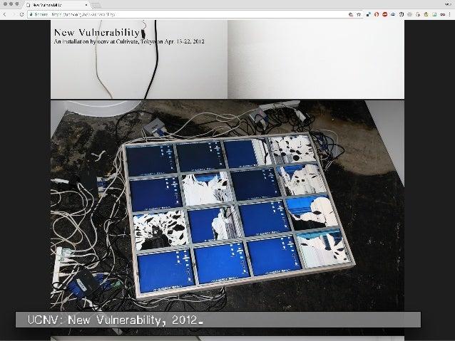 UCNV: New Vulnerability, 2012.
