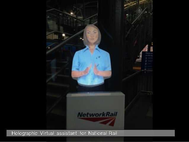 Holographic Virtual assistant for National Rail