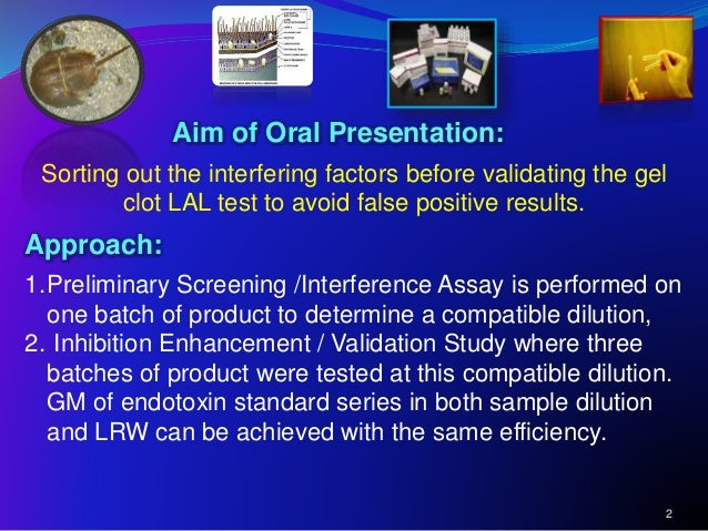 """endotoxin assay inhibition Product inhibition lished the """"guideline on the validation and use of the limulus amebocyte lysate test as an end-product endotoxin test for."""