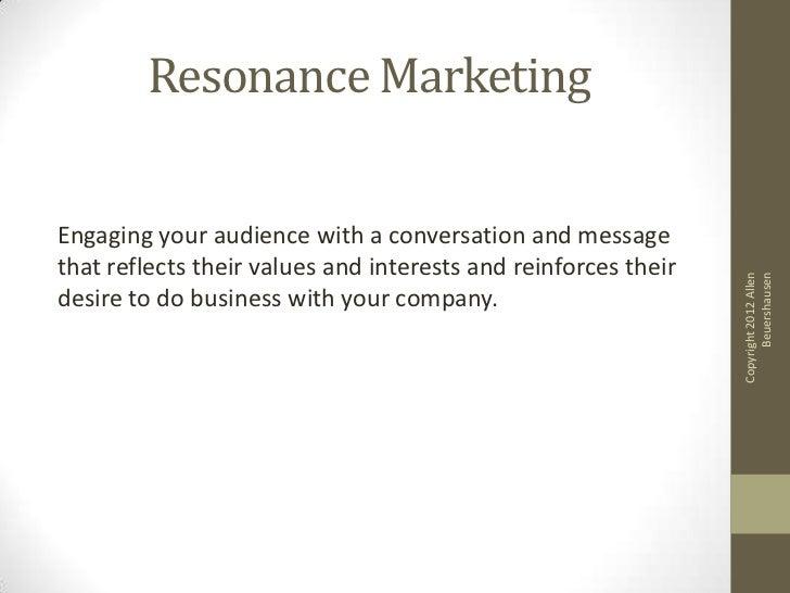 Resonance marketing Slide 2