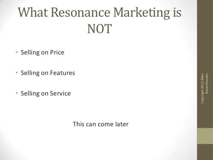 Resonance marketing Slide 3