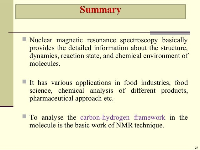 Nmr spectroscopy slideshare