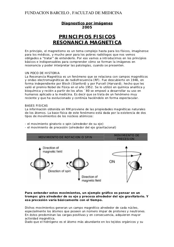 FUNDACION BARCELO , FACULTAD DE MEDICINA                         Diagnostico por imágenes                                 ...
