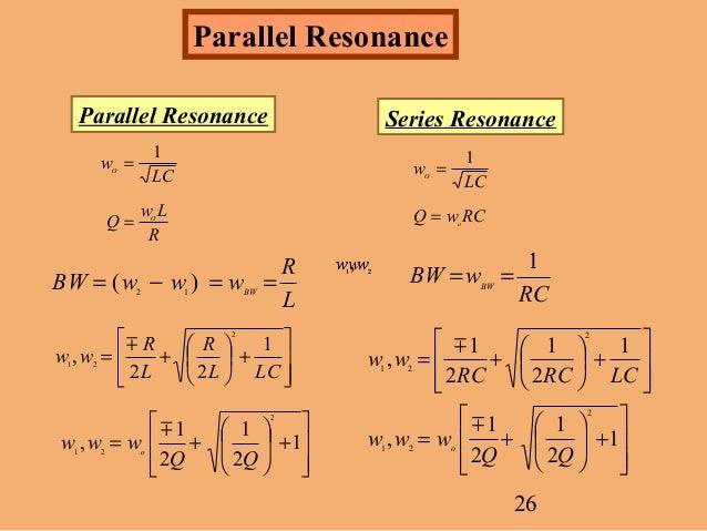 Series parallel rlc resonance : Best 2012 series to watch