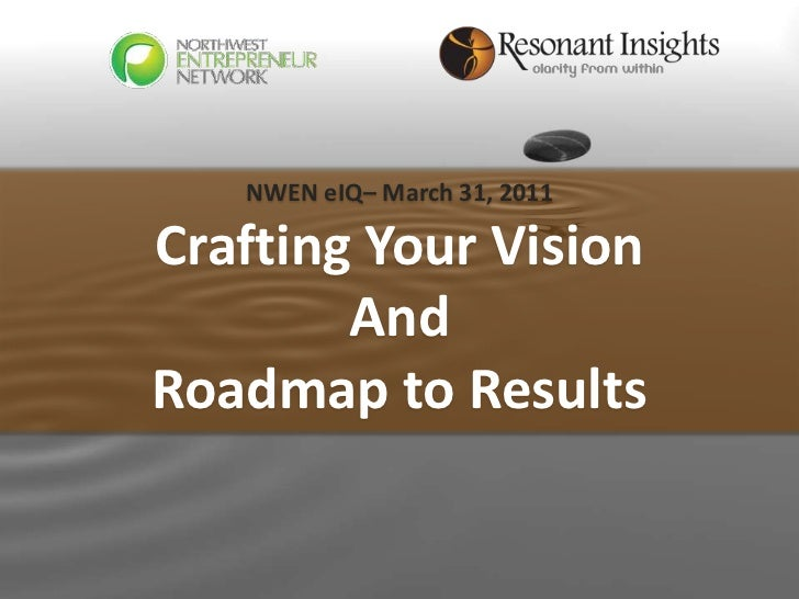 NWEN eIQ– March 31, 2011Crafting Your Vision        AndRoadmap to Results www.resonantinsights.com