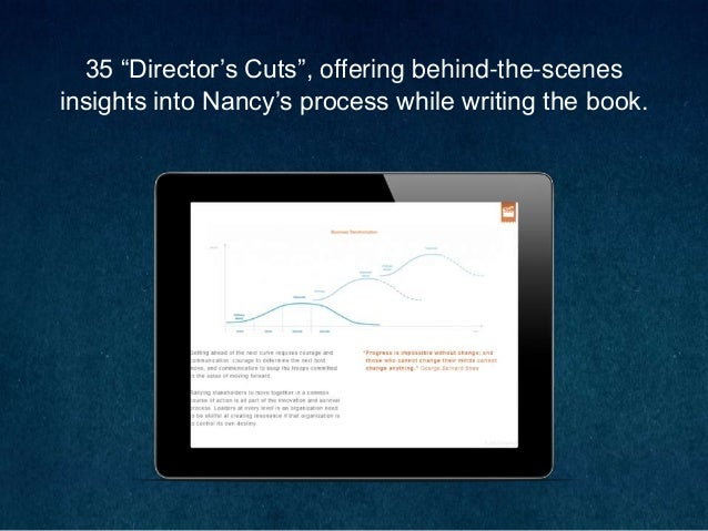 """35 """"Director's Cuts"""", offering behind-the-scenes insights into Nancy's process while writing the book."""