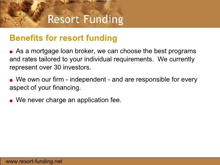 Resort Funding slideshare - 웹