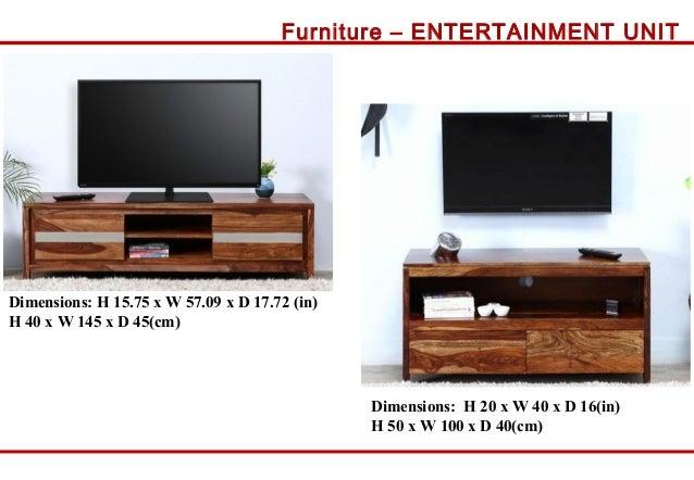 Cm 20 Furniture ENTERTAINMENT UNIT Dimensions