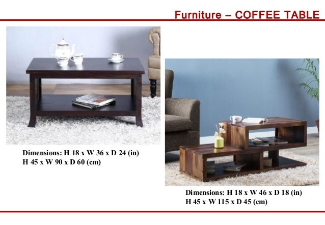 Furniture COFFEE TABLE Dimensions