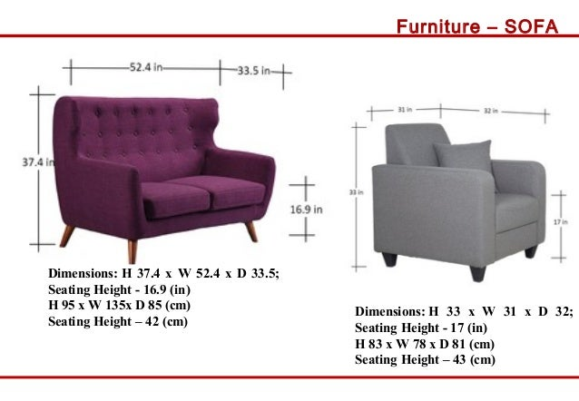 Resort N Furniture Sizes