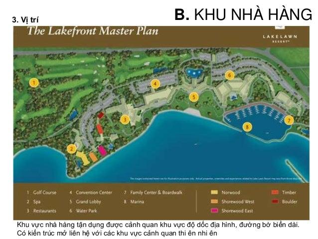 • Khu Spa_ health chủ yếu phục vụ cho khu ở; nằm bên trong, tiếp cận khu ở • - Spa có sự phức hợp thay đổi giữa khu vực ướ...