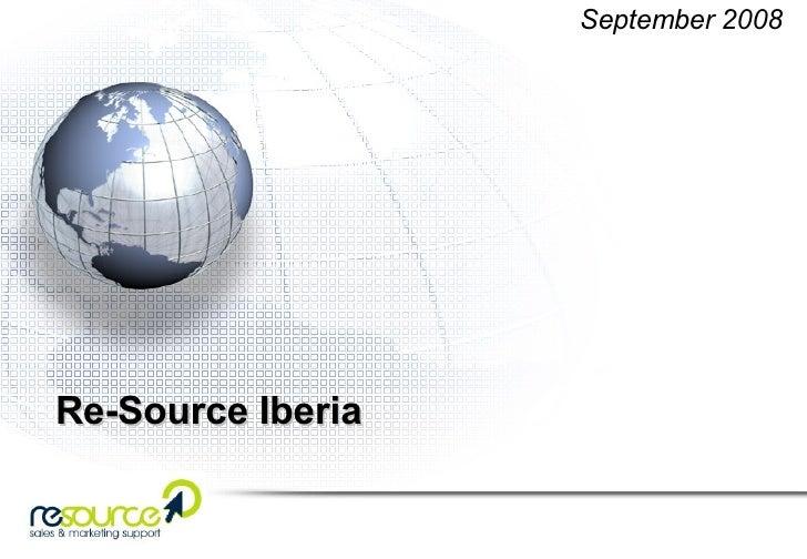 Re-Source Iberia September 2008