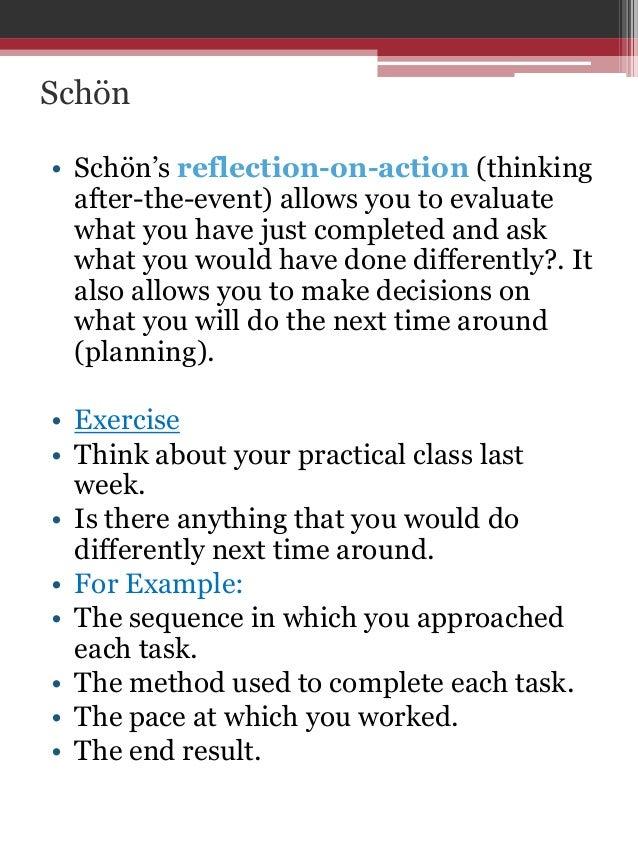 Written reflective accounts