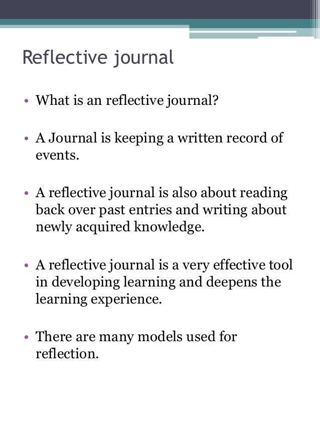 reflective journals templates