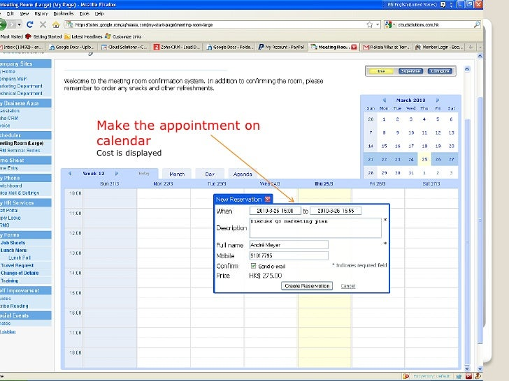 Create A Meeting Room Schedule For Business