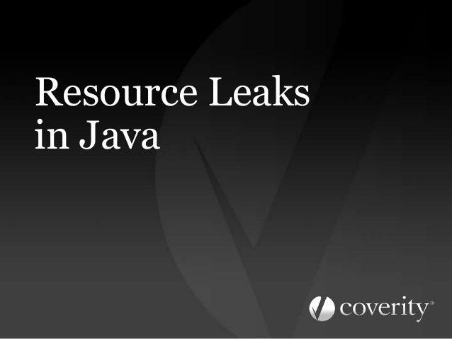 Resource Leaksin Java