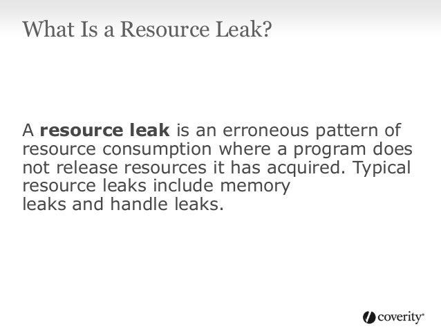 Resource Leaks in Java