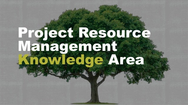 Project Resource Management Knowledge Area