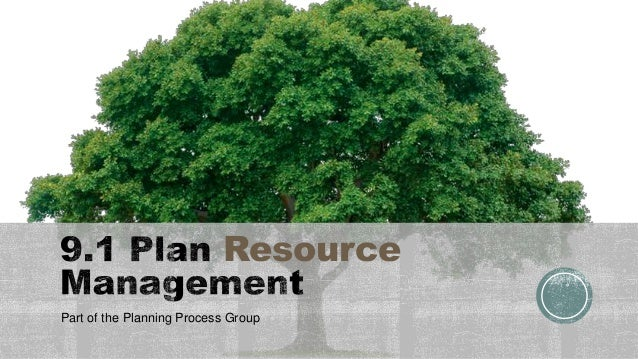 Resource Part of the Planning Process Group