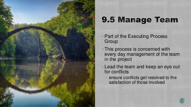  Part of the Executing Process Group  This process is concerned with every day management of the team in the project  L...